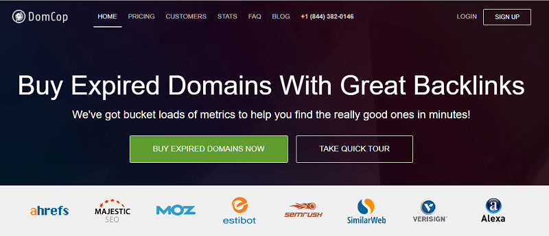 DomCop Expired DOmains